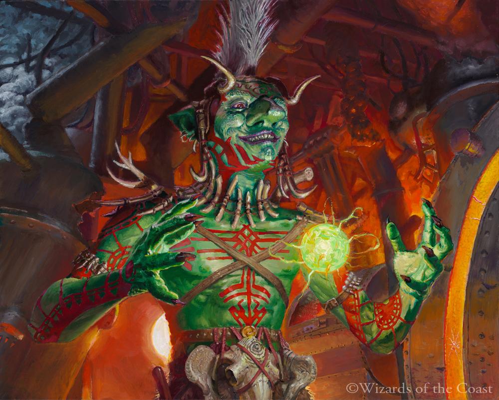 Goblin Anarchomancer Art by Joe Slucher