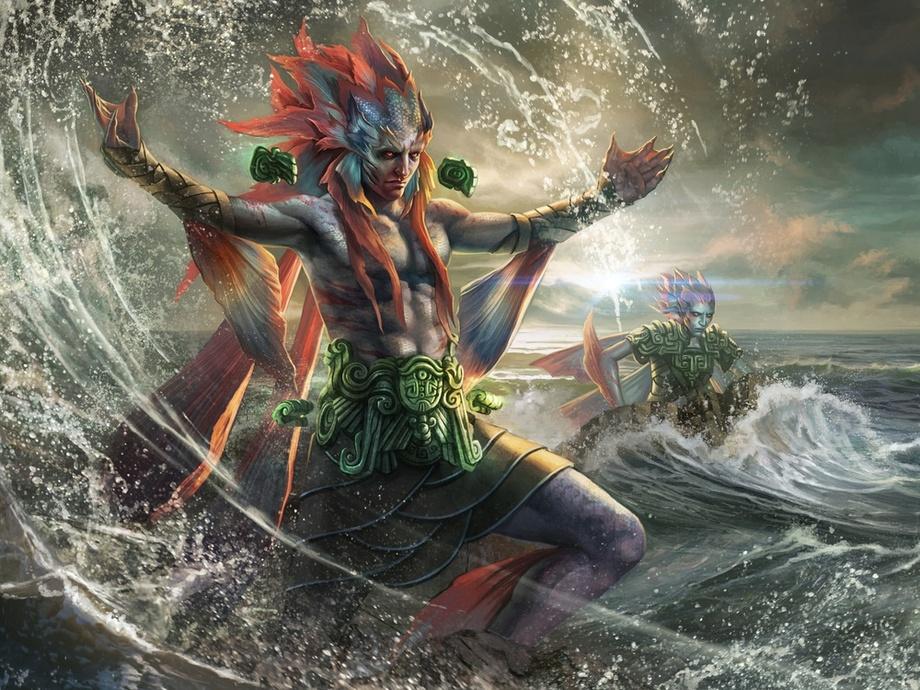 Kopala, Warden of Waves Art by Magali Villeneuve