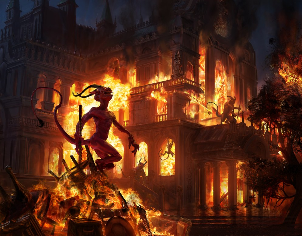 Burn Down the House Art by Campbell White