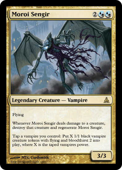 Vampire Tokens Black Mtg