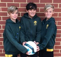 SOCCER - Harry, Angus and Riley