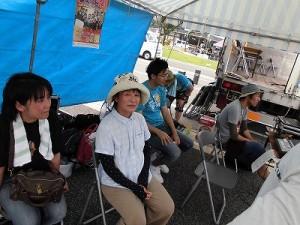 第五陣越前おおのとんちゃん祭のスタッフをしました。 PAブース兼ステージ控室の様子/どこまでもアマチュア