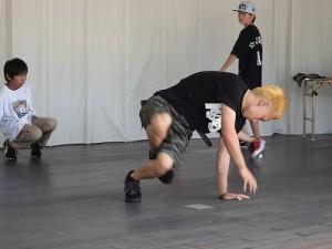 第五陣越前おおのとんちゃん祭のスタッフをしました。 迫力があるお兄さんのダンスリハーサル/どこまでもアマチュア
