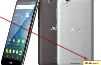 Acer Liquid Z630 LTE T03 MT6735 5.1 Lollipop Firmware Flash File Download