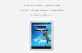 Dany Tab Q4 8GB Multi Firmware Flash File 100% Tested