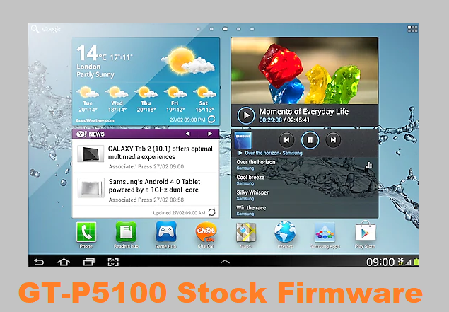 Samsung Galaxy Tab 2 10.1 GT-P5100 Stock Firmware Download