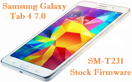 Samsung Galaxy Tab 4 7.0 (3G) SM-T231 Stock Firmware Download