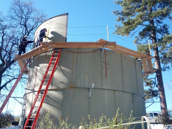 Dismantling the old tank