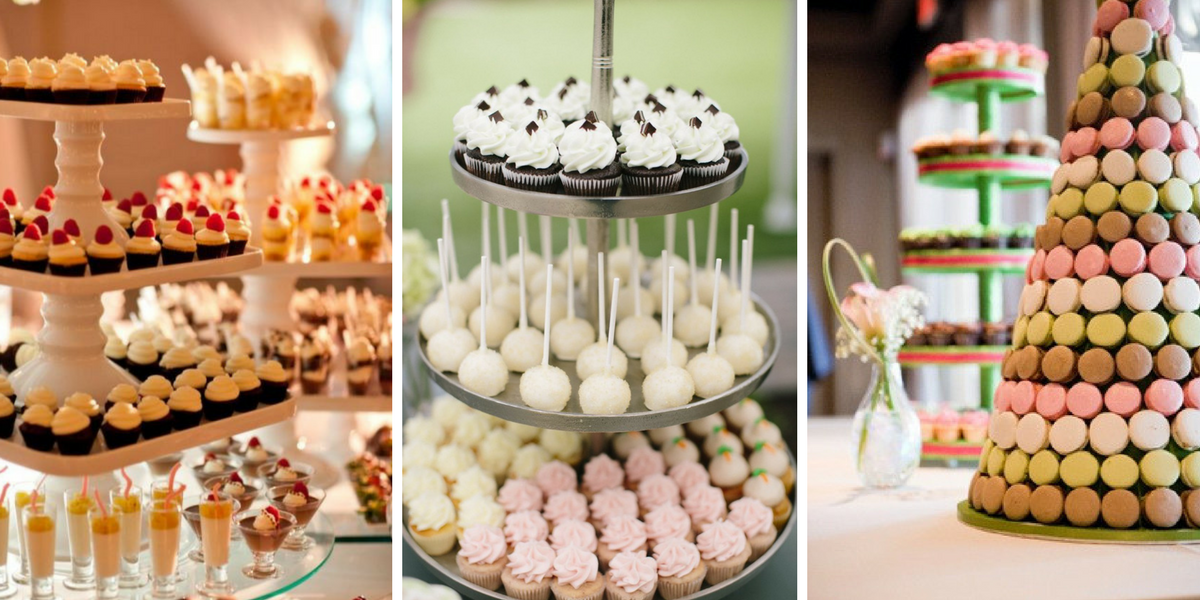 Dessert tables are a great way to offer your guests a variety of desserts in one beautiful display. We'll work with you to create a dessert spread that works within your budget and best reflects the theme of your event.