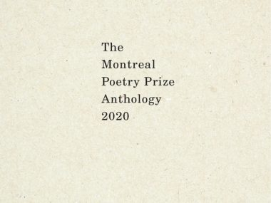 The Montreal Poetry Prize Edition 2020