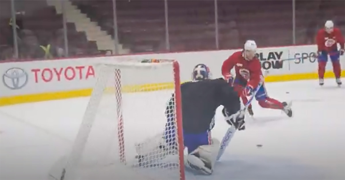 Montreal Canadiens morning practice video