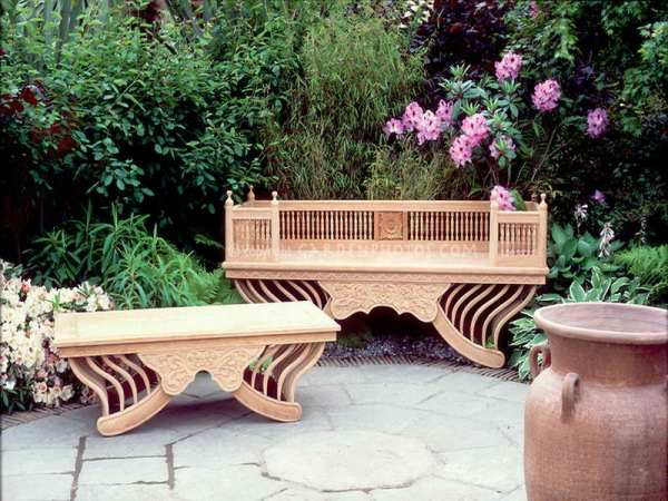 beautiful garden benches Day 127: Something Beautiful—Living in the Outdoors
