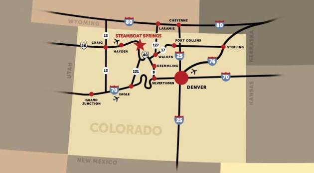 Driving Directions to Steamboat Springs