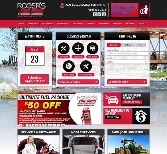 Tire Store Websites