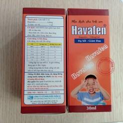 Havafen hạ sốt, giảm đau cho bé