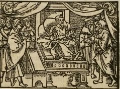 Jacob on his Deathbed, 1539 woodcut