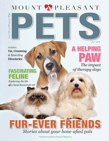 Mount Pleasant Pets 2017 magazine cover dogs cats lowcountry