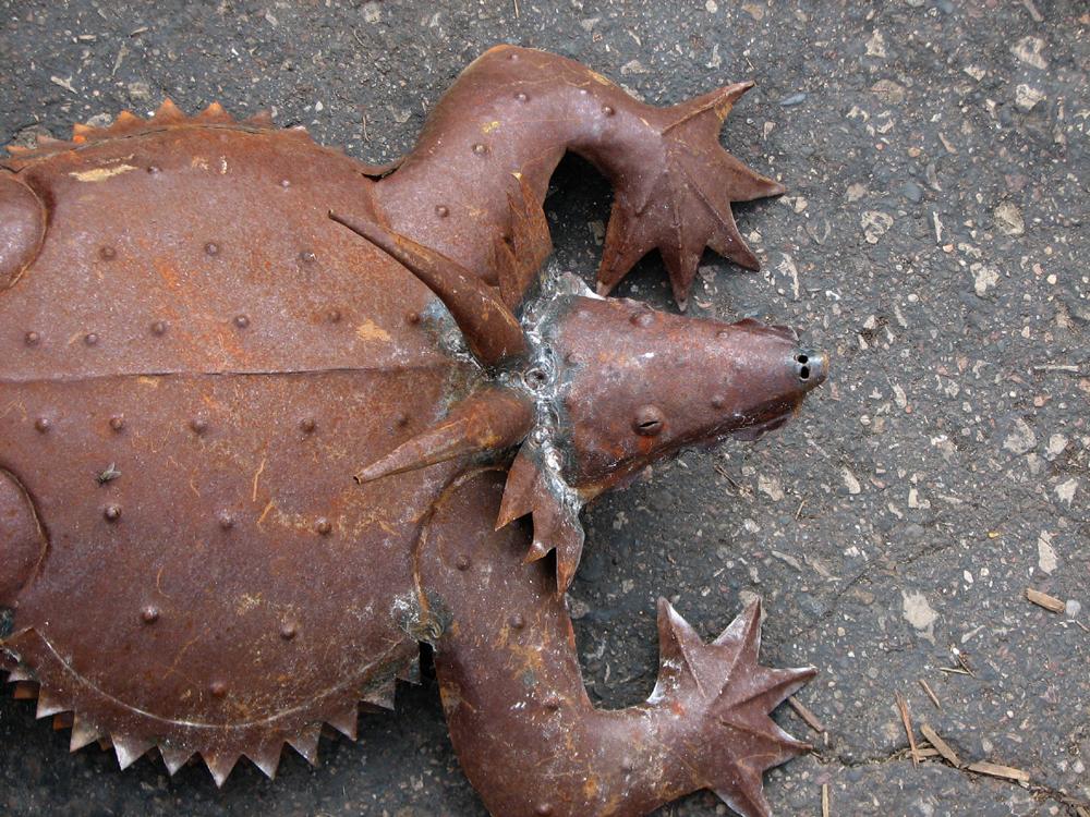 metal lawn creature sm