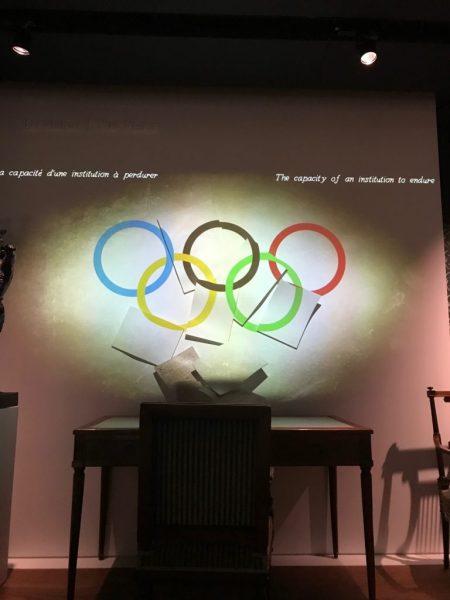 aros olimpicos mtraining museo olímpico lago Lemán