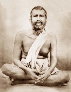 Ramakrishna meditating