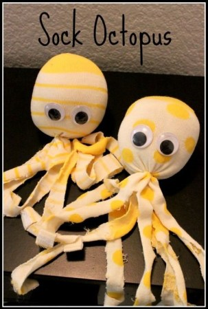Sock Octopus | Diy crafts for adults, Easy crafts for kids ...