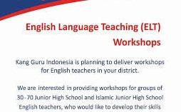 MTs Birrul Walidain NW Rensing Juknis dan Formulir Pendaftaran Workshop Pembelajaran Guru Bahasa Inggris SMP/MTs