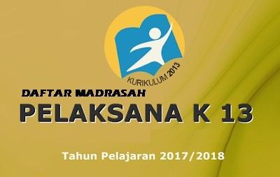 SK Dirjen Pendis Tentang Madrasah Pelaksana Kurikulum 2013 Tahun Pelajaran 2017-2018