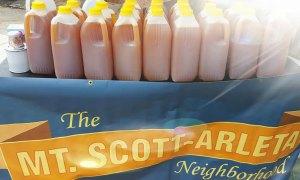 Fresh pressed cider jugs