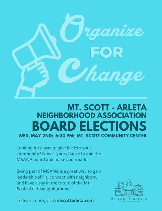 Blue Election Flyer - MSANA