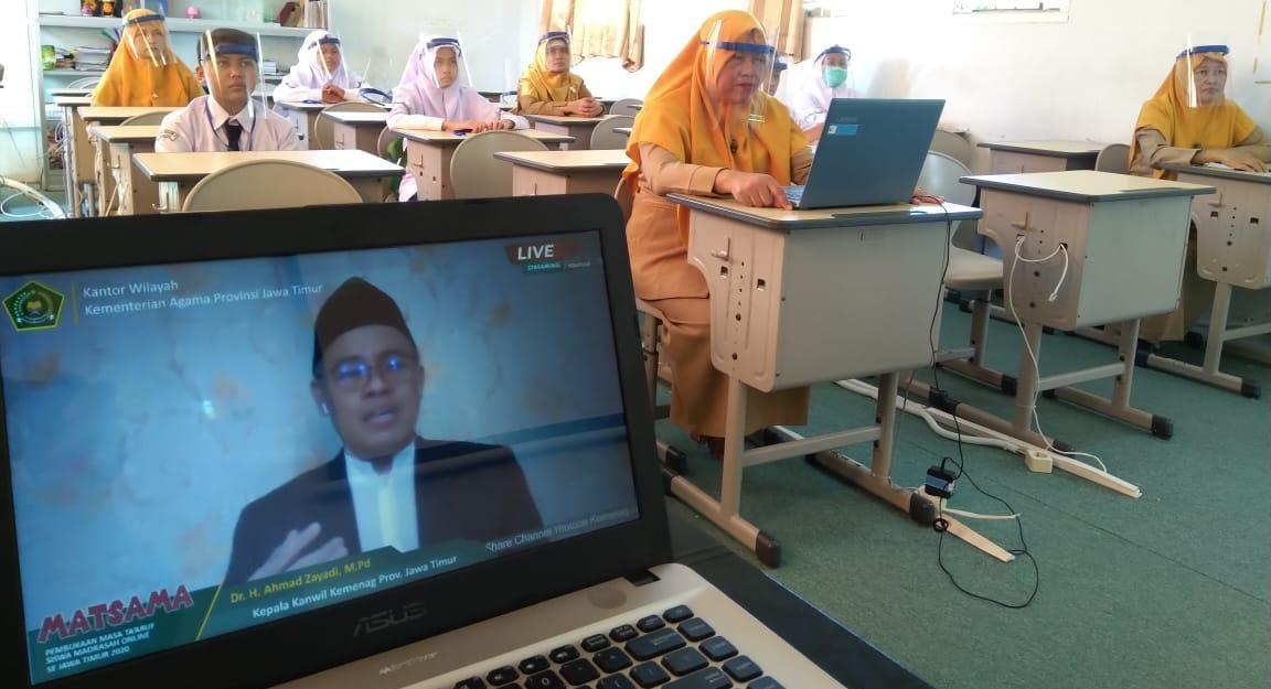 Mengawali Matsama dengan Video Confrence dan Kelas Virtual
