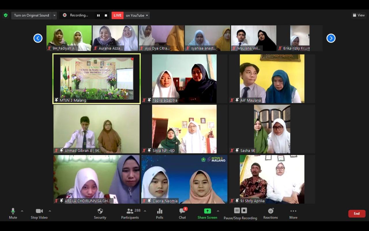 Wisuda Virtual, Penganugerahan Madrasah Ramah Anak