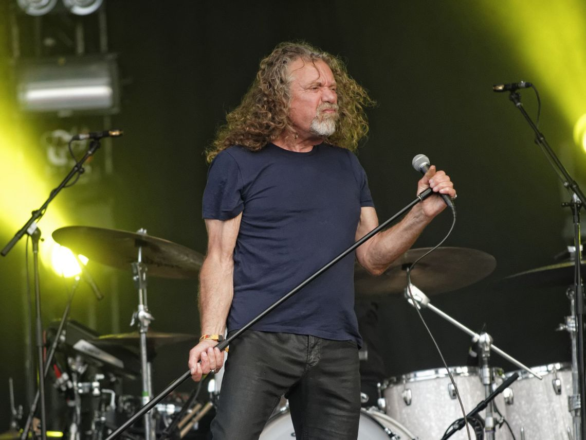 Robert Plant performs with the Sensational Space Shifters at the Bonnaroo Music and Arts Festival in Manchester, Tenn. on Sunday, June 14, 2015. (MTSU Seigenthaler News Service / Gregory French)