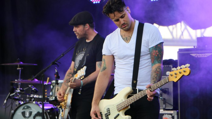Alex Levine of the Gaslight Anthem performs at the Forecastle Festival in Louisville, Ky., on Friday, July 17, 2015. (MTSU Sidelines / John Connor Coulston)