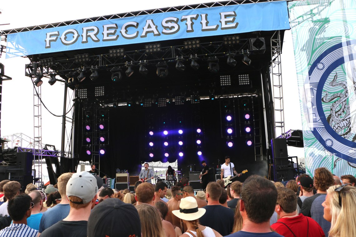 The Gaslight Anthem performs at the Forecastle Festival in Louisville, Ky., on Friday, July 17, 2015. (MTSU Sidelines / John Connor Coulston)