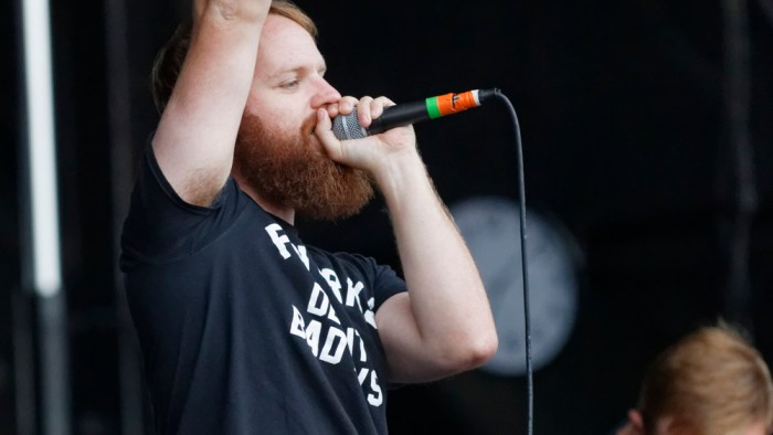 """Dan """"Soupy"""" Campbell of The Wonder Years performs during the Nashville, Tennessee stop of the Vans Warped Tour on July, 1, 2015. (MTSU Sidelines / Gregory French)"""