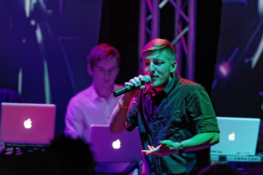 MTSU student Illuminate performs at TEMPT in Murfreesboro, Tennessee on Saturday, April 25, 2015. He was opening for the rapper Twista. (MTSU Sidelines/Greg French)