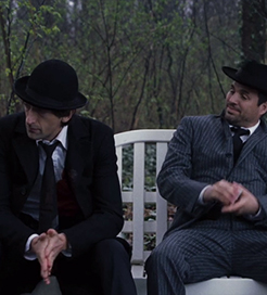 Adrian Brody and Mark Ruffalo in The Brothers Bloom (2008)