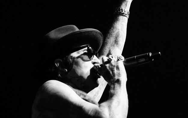 "Rapper Yelawolf performs at Marathon Music Works in Nashville, Tenn. on Tuesday, Dec. 21, 2014. Nashville was the final stop of his ""Slumerican Made"" tour. (MTSU Sidelines/Matt Masters)"