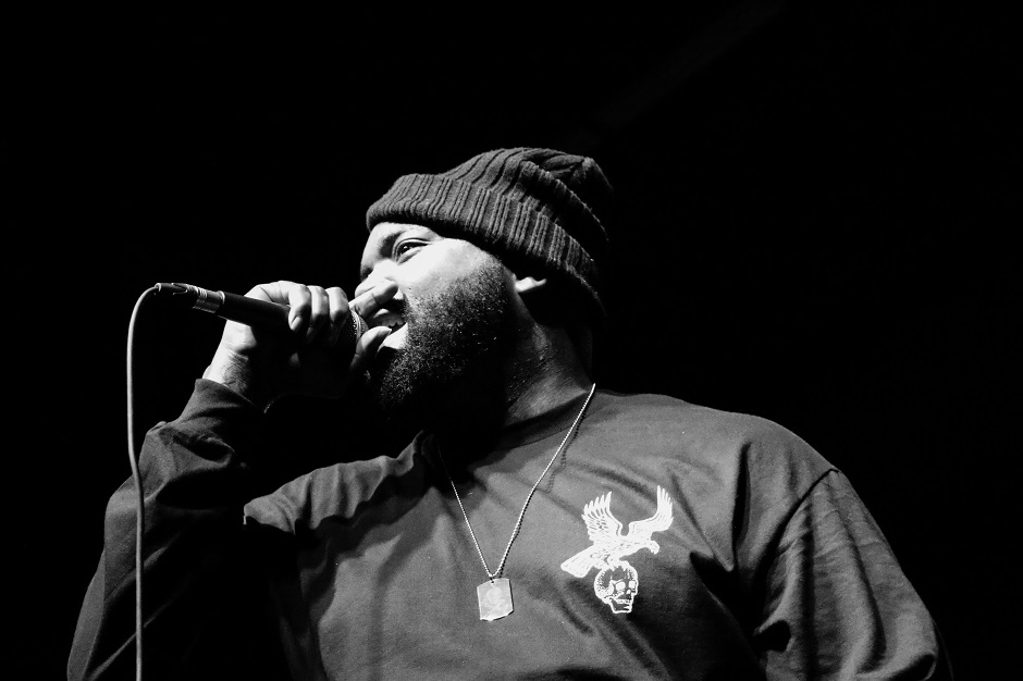 "Rapper Big Henry performs at Marathon Music Works in Nashville, Tenn. on Tuesday, Dec. 21, 2014. Big Henry was opening for Yelawolf on the final stop of his ""Slumerican Made"" tour. (MTSU Sidelines/Matt Masters)"