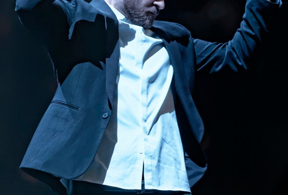 """Justin Timberlake performs at Bridgestone Arena in Nashville, Tenn. on Friday, Dec. 19, 2014. The show marked the second time he visited Nashville during his """"20/20 Experience World Tour."""" (MTSU Sidelines/Greg French)"""