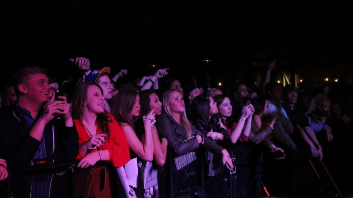 The crowd during rapper Jay Ant's performance at Marathon Music Works in Nashville, Tenn. on Saturday, January 24, 2015. Jay Ant was one of three opening acts for hip-hop artist G-Eazy. (John Connor Coulston / MTSU Sidelines)