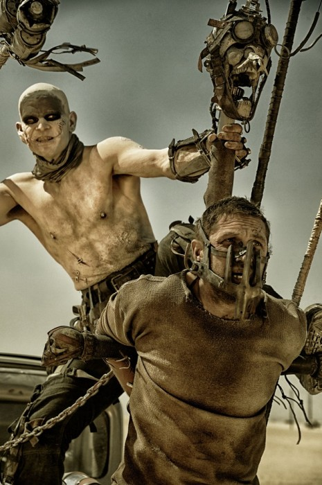 Josh Helman, left, as Slit and Tom Hardy, right, as Max in <i>Mad Max: Fury Road</i>. The film was the fourth film in the <i>Mad Max </i>series and the first to not feature Mel Gibson in the titular role. (Warner Bros. / FILE)
