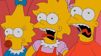 "Maggie, Lisa and Bart Simpson as they appear in the ""Oh, the Places You'll D'oh"" segment of the Simpsons' ""Treehouse of Horror XXIV."" (FILE)"