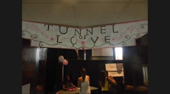 """Students enter the """"Tunnel of Love"""" educational fair at MTSU's James Union Building to learn about the risks of sexually transmitted infections on Thursday, September 19, 2013. (MTSU SIdelines / John Connor Coulston)"""