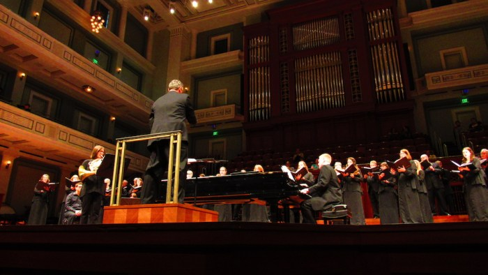 Nashville Symphony Chorus performing in the Laura Turner Concert Hall in Nashville, Tenn. on Saturday, Oct. 22.