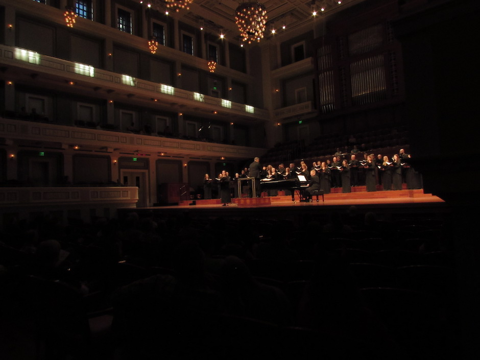 Nashville Symphony Chorus performing at the Schermerhorn Symphony Center in Nashville, Tenn.on Saturday, Oct. 22.