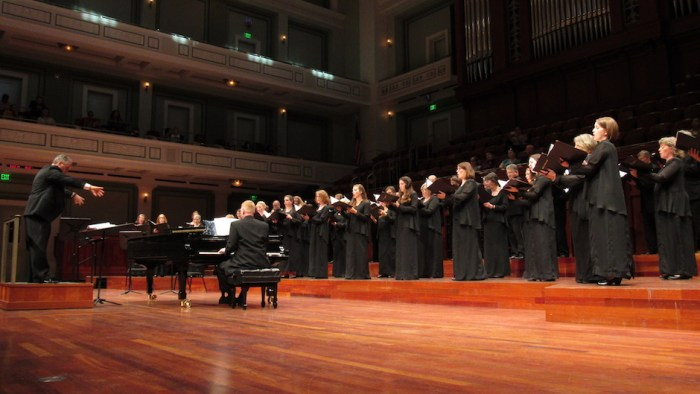 Nashville Symphony Chorus singing at the Schermerhorn Symphony Center in Nashville, Tenn. on Saturday, Oct. 22.