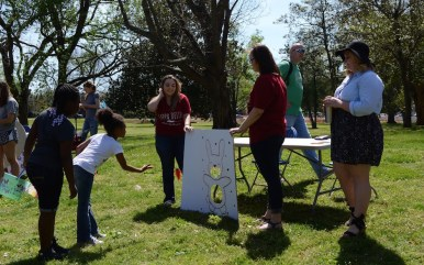 Kappa Delta's game was an Easter-themed sack toss. (Sidelines/Robin Duff)