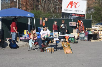 Local artists set up shop at Boro Fondo Bazaaro on Saturday. (Sidelines / Wesley McIntyre)