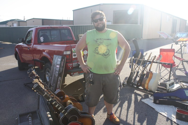 Jack Brunson operates his own guitar restoration business aside from organizing Boro Fondo. (Sidelines / Wesley McIntyre)